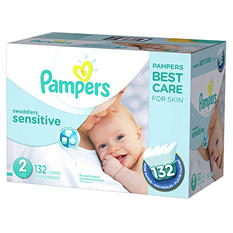 Pampers Swaddlers Sensitive Pick 2 Diaper Bundle (Choose Your Sizes)