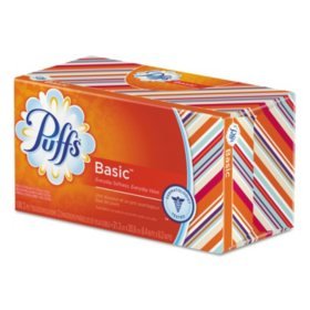 Puffs White Facial Tissue, 1-Ply (180 sheets, 24 ct.)
