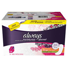 Always Discreet Liners, Very Light, Long (176 ct.)