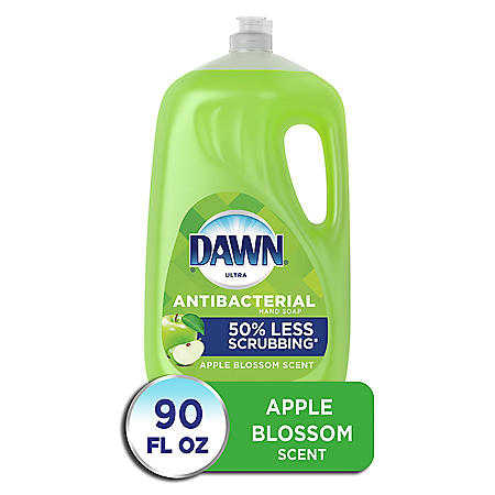 Dawn Ultra Antibacterial Hand Soap, Dishwashing Liquid Dish Soap, Apple Blossom Scent (90 fl. oz.)