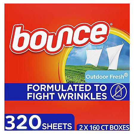 Bounce Fabric Softener Dryer Sheet Outdoor Fresh (2 x 160 ct.)
