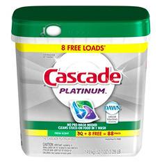 Cascade Platinum ActionPacs Dishwasher Detergent, Fresh Scent (88 ct.)