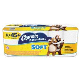 Charmin Essentials Soft 2-Ply Bathroom Tissue (200 sheets per roll, 20 rolls per pack)