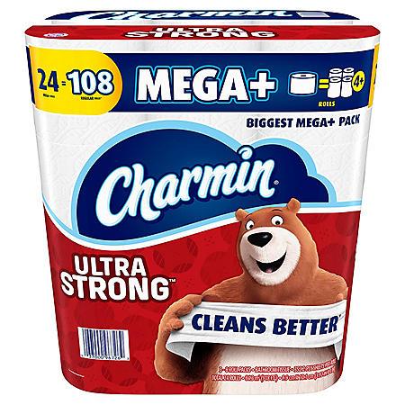 Charmin Ultra Strong Super Mega Toilet Paper (24 rolls)