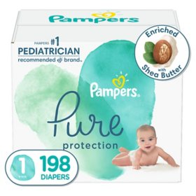 Pampers Pure Protection One-Month Supply Diapers (Choose Your Size)