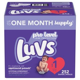 Luvs Pro Level Leak Protection Diapers (Choose Your Size)