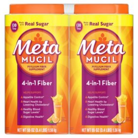 Metamucil Orange Fiber Supplement, Smooth Powder (53.2 oz.)