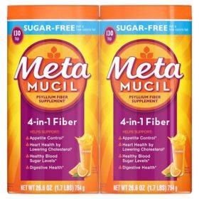 Metamucil Sugar Free Orange Fiber Supplement, Smooth Powder (260 doses)