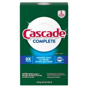 Cascade Complete Powder Dishwasher Detergent, Fresh Scent (155 oz.)