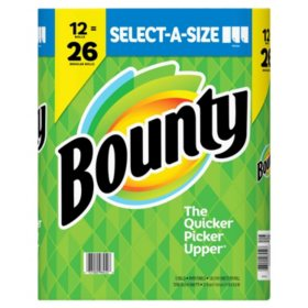 Bounty Select-A-Size Paper Towels, White (12 rolls)