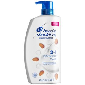 Head & Shoulders 2-n-1 Dandruff Shampoo & Conditioner, Dry Scalp Care (43.3 fl. oz.)