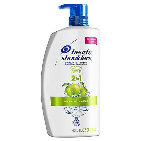 Head & Shoulders 2-in-1 Dandruff Shampoo & Condition, Green Apple (43.3 fl. oz.)