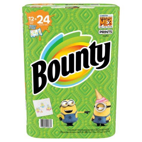 Bounty Select-A-Size Paper Towels Despicable Me 3 Prints 126 Ct