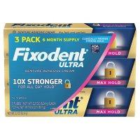 Fixodent Ultra Max Hold Dental Adhesive (2.2 oz., 3 pk.)