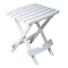 Quik-Fold Side Table - White