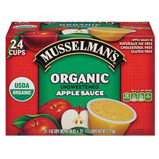 Musselman's Organic Unsweetened Applesauce (4 oz. cups, 24 ct.)