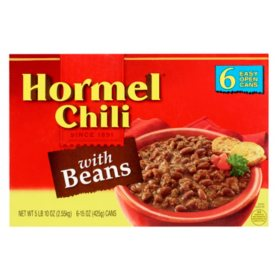 Hormel Chili with Beans (15 oz., 6 pk.)