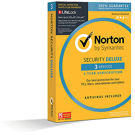 Norton Security Deluxe 3 Device - Sam's Club