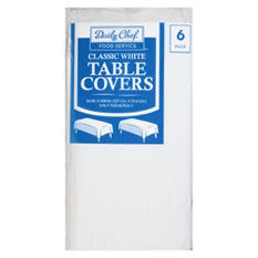Daily Chef 3-Ply Tissue Paper Table Covers, White (6ct.)