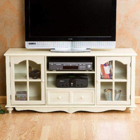 """Antique White Cambridge 52"""" TV Cabinet"""