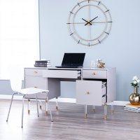Holly & Martin Helston Gray Writing Desk