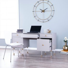 Holly & Martin Helston Gray Writing Desk