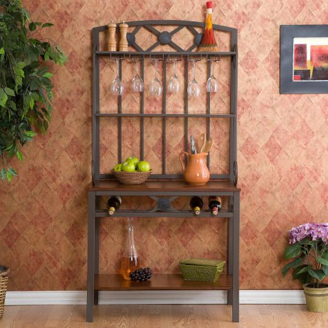 Zen Baker's Rack with Wine Storage