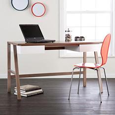 Holly-Martin Hobbs Desk, Burnt Oak/White