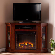 Windsor Electric Fireplace Media Console - Mahogany