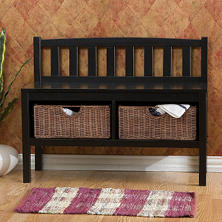 Black Window Sash Bench