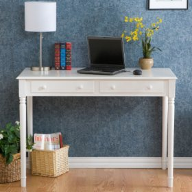 Script's White 2 Drawer Writing Desk