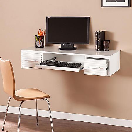 Ofchet Wall Mount Desk - White