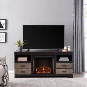 Royar Fireplace Media Console