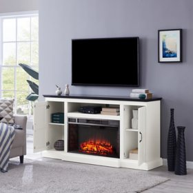 Larglos Widescreen Fireplace Media Console