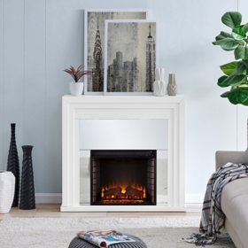 Hythedul Mirrored Fireplace