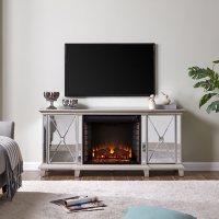 Westcai Mirrored Fireplace Media Console