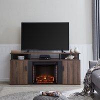 Shalsim Electric Fireplace Media Console