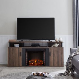 Shalsim Electric Fireplace Media Console