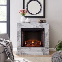 Sedward Faux Marble Fireplace