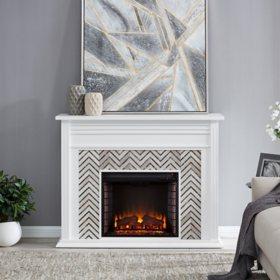 Safta Tiled Marble Fireplace