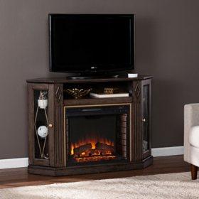 Kerwich Electric Fireplace with Media Storage