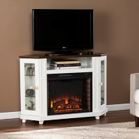 Hudells Electric Media Fireplace with Storage