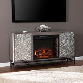 Neltoon Electric Fireplace with Media Storage