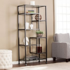 Bakerton Asymmetrical Bookcase (Assorted Colors)