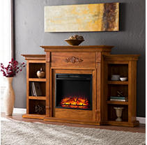 Emerson II Electric Fireplace-Glazed Pine