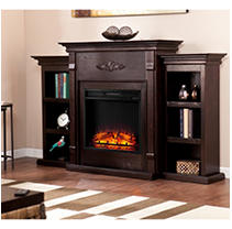 Emerson II Electric Fireplace-Espresso