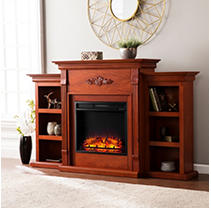 Emerson II Electric Fireplace-Mahogany