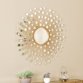Star Glam Starburst Wall Mirror, Gold