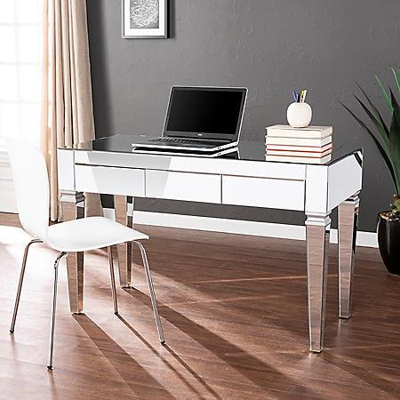 Darien Mirrored Desk - Glam Silver