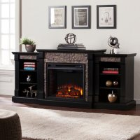 Charleston Electric Fireplace with Bookcases